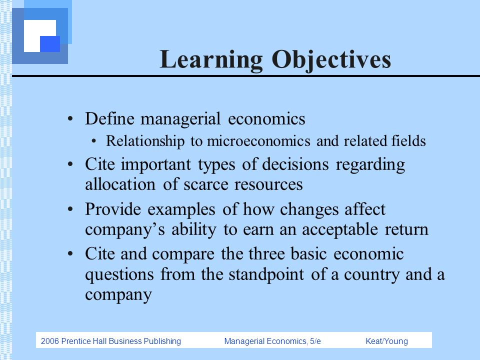 Managerial economics is best defined as the economic study of