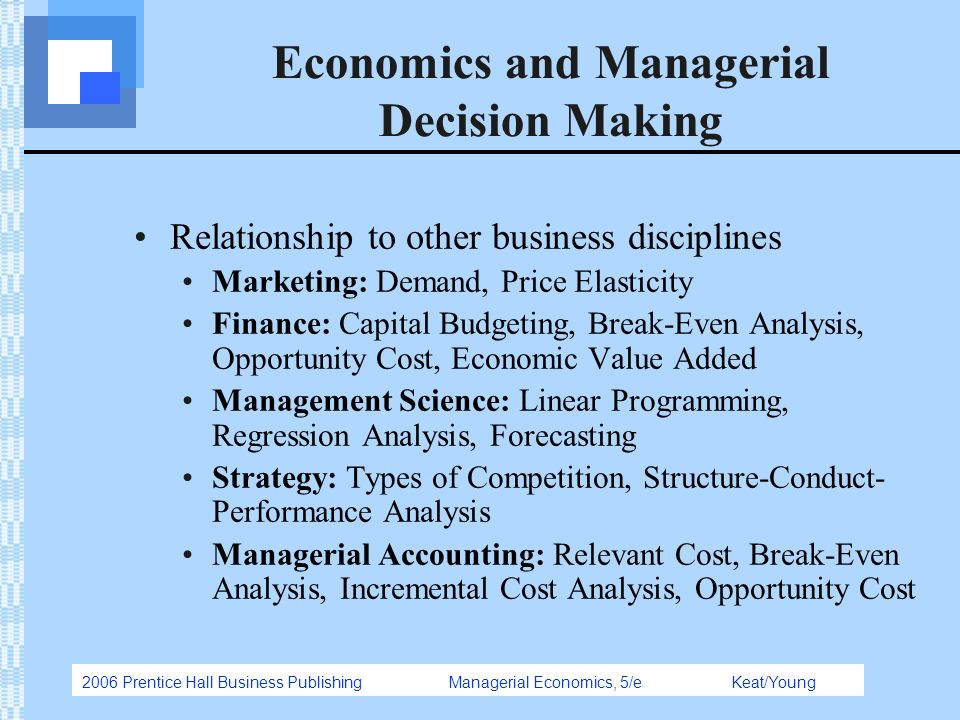 relationship of managerial economics with other disciplines Managerial economics and financial analysis (mefa) _jntua syllabus.