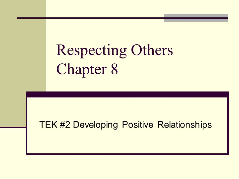 paper on respecting others