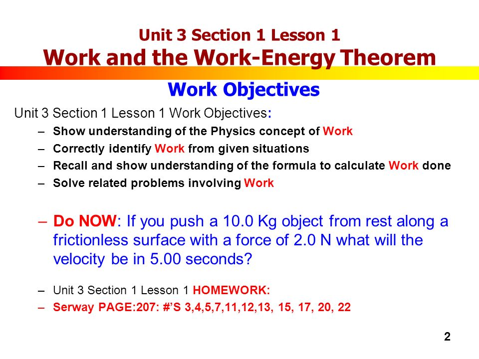 ap physics unit work energy power ppt video online  2 unit