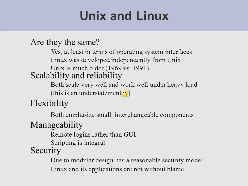 Unix Linux Overview Unix Linux Intro Instructors Reasons