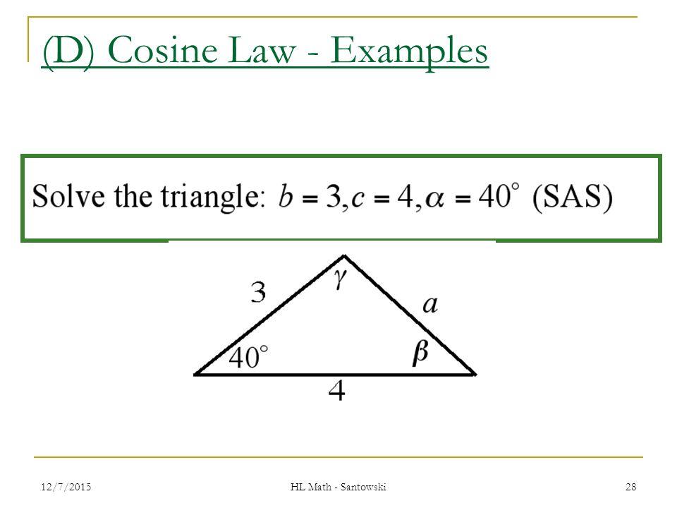 cosine law and sine law pdf