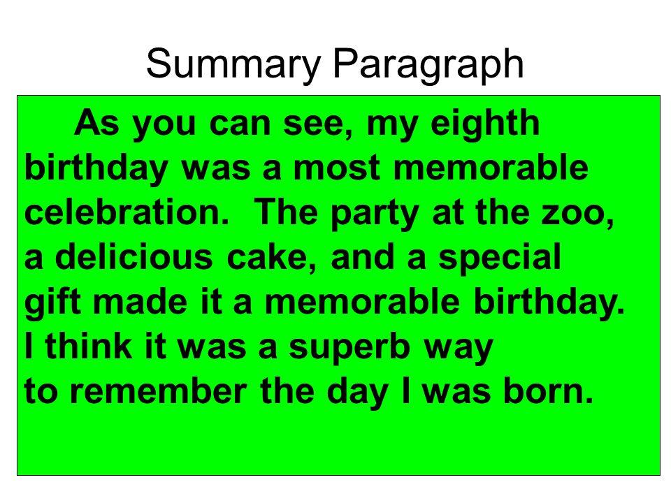 essay writing about my birthday