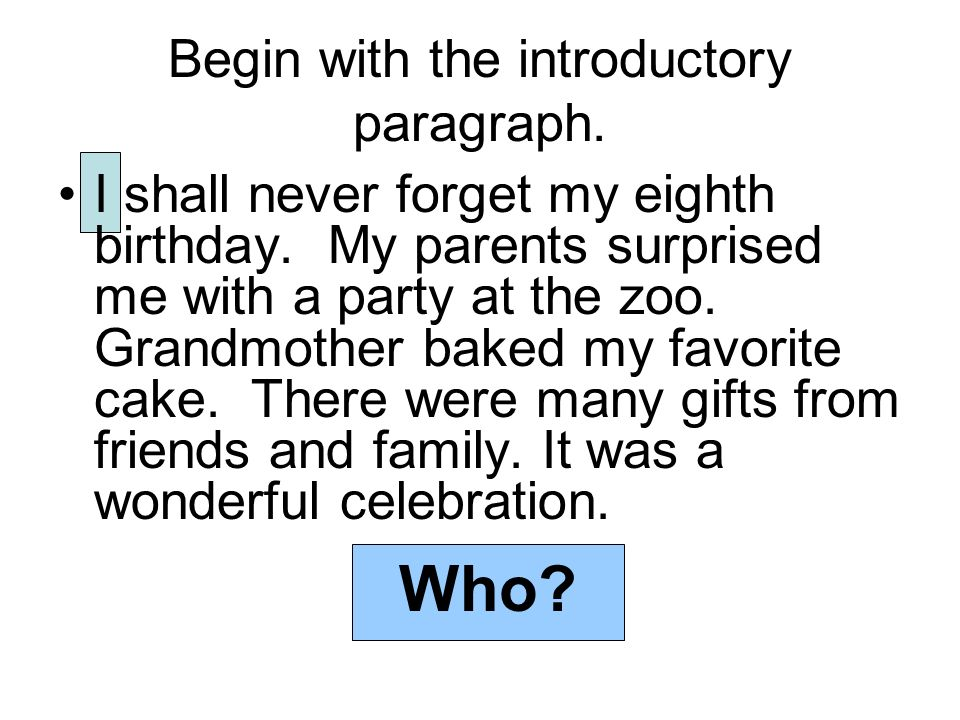 Moving to the Five Paragraph Narrative Essay ppt video online