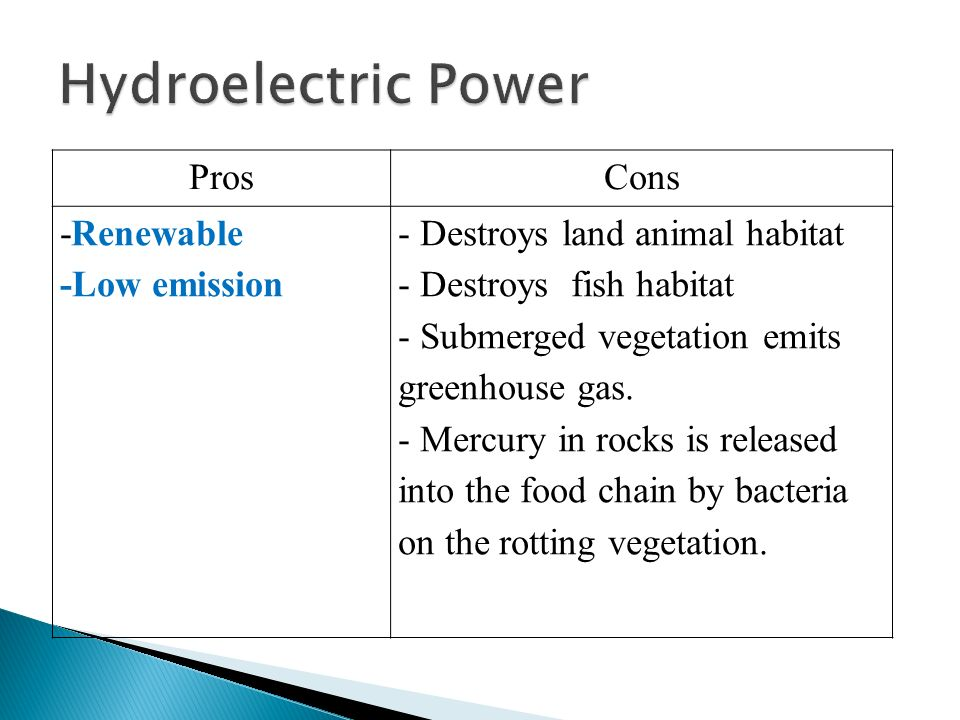 the pros and cons of hydro electric power generation Complete essay on pros and cons of hydropower plant energy  what are the pros and cons of using hydropower plant energy  demo of hydro power plant the pros of .