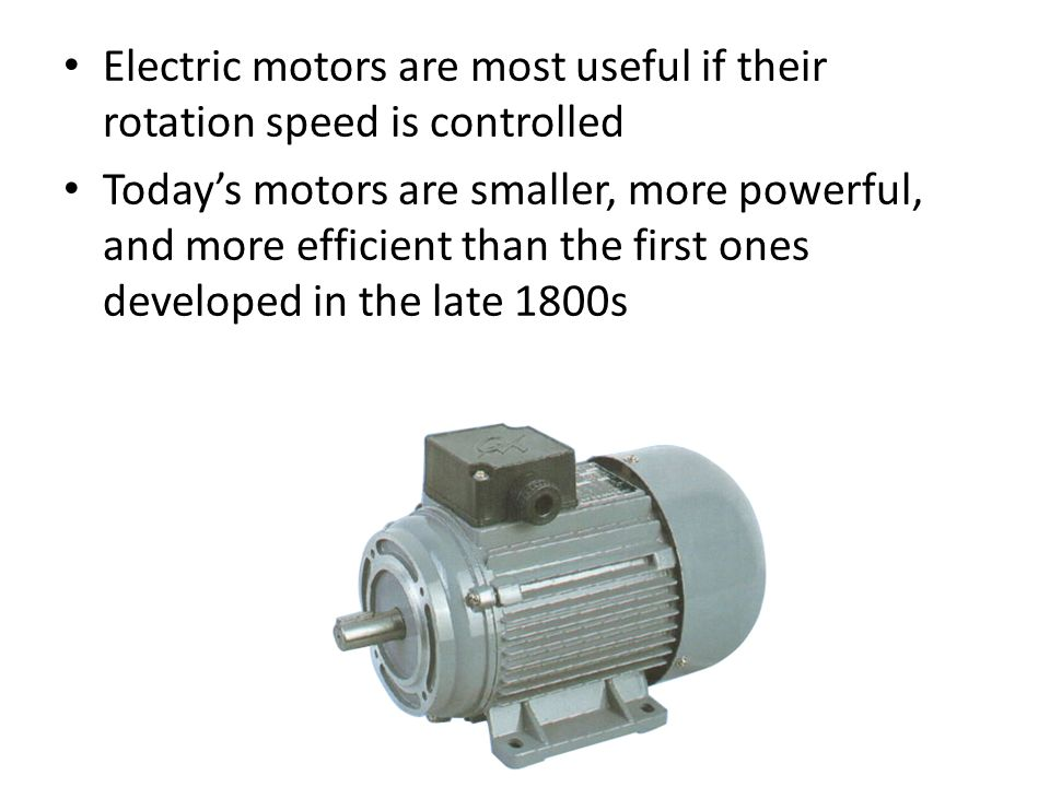 Unit 6 magnetism chapter 8 pages ppt download for Most efficient electric motor