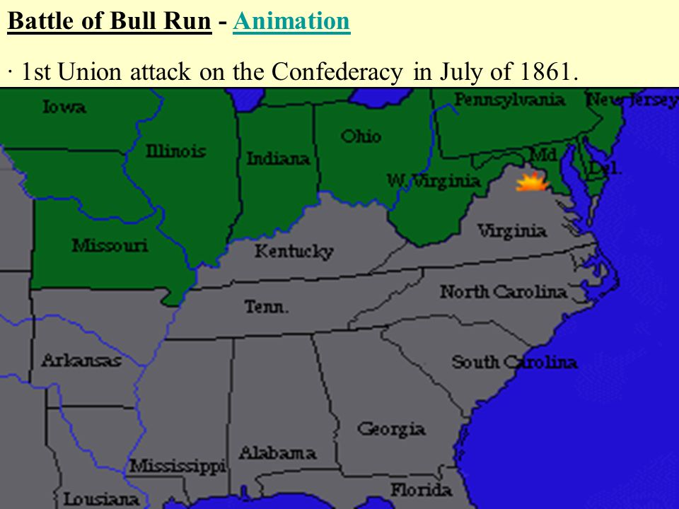 battle of bull run animation ppt video online download