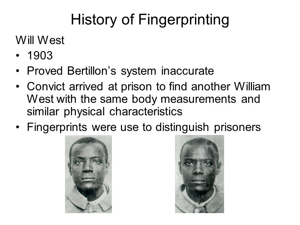 history of fingerprinting essay History of fingerprinting essays forensic science used in criminal justice has recently been revolutionized with new dna technology, but fingerprinting is still the.
