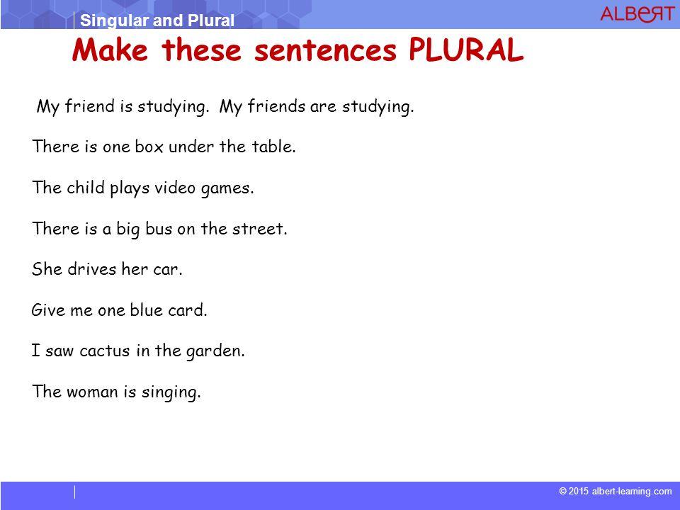 Singular and Plural. - ppt video online download