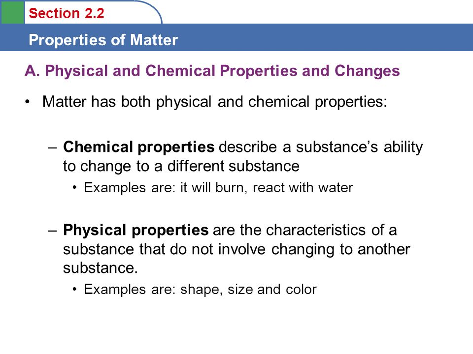 Objectives To learn to distinguish between physical and ...