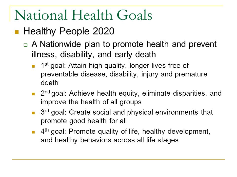 Your health wellness chapter 1 lesson 1 pg ppt download - Healthy people 2020 is a plan designed to ...