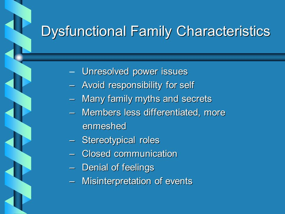 aby's dysfunctional family case study from The victims of dysfunctional families may have determined deprived guilty  feelings  this usually causes negative effects on the beliefs of families in cases  such as  children learn from their parents that feelings should be repressed ( seem.