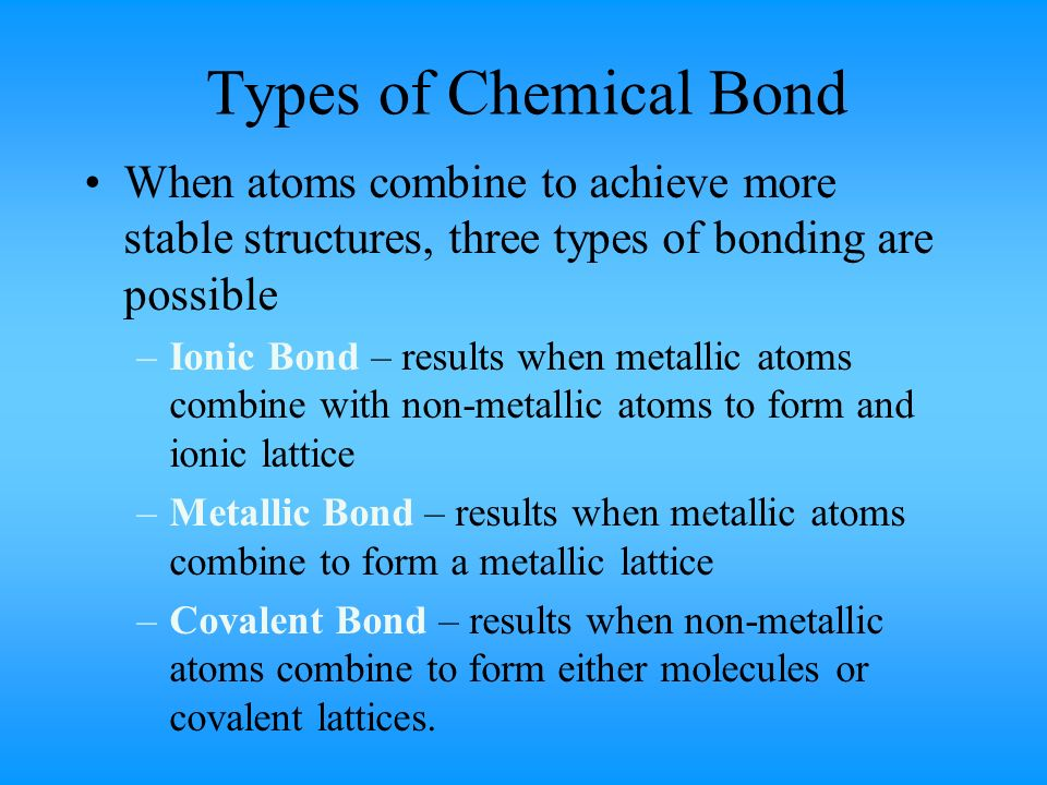 Connecting Atoms Overview ppt download – Types of Chemical Bonds Worksheet