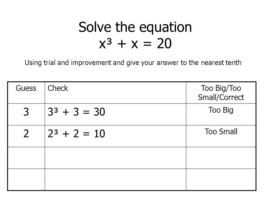 how to solve 2 5 of 20