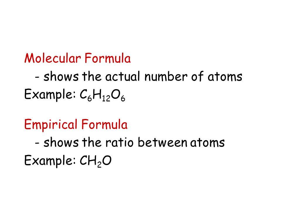 Empirical & Molecular Formulas - ppt video online download