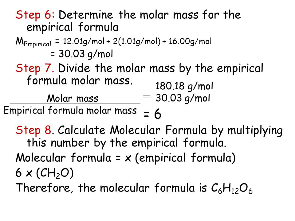 Empirical & Molecular Formulas - ppt video online download