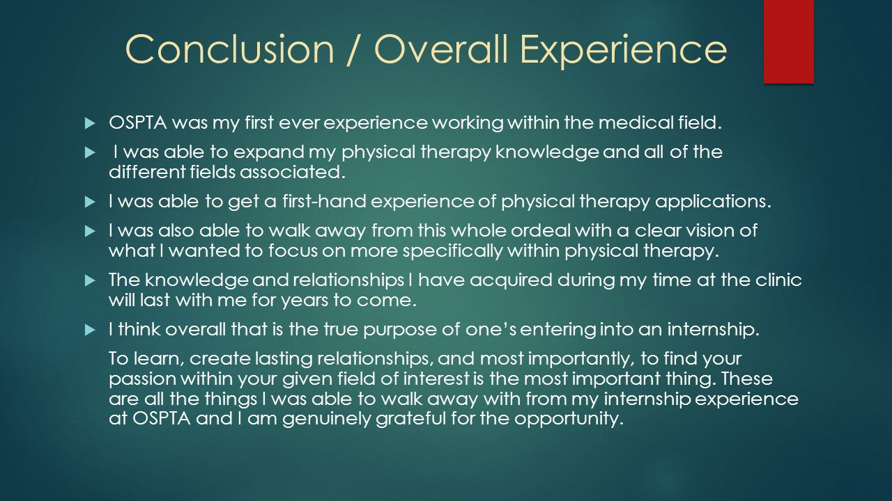 my experiences working with doctors in two different fields Gaining experience for medical school this page gives an overview of the reasons why you need to gain experience before medical school and the main options available there are also links to more detailed information where you can find out more.