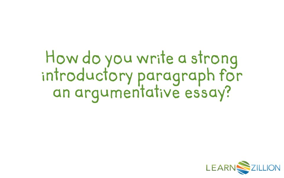 How to start informative essay