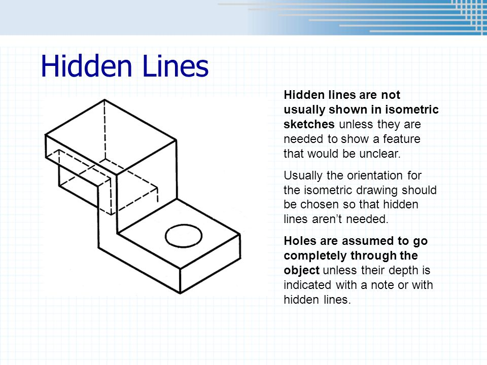 Drawing With Hidden Lines : Chapter pictorial sketching ppt video online download