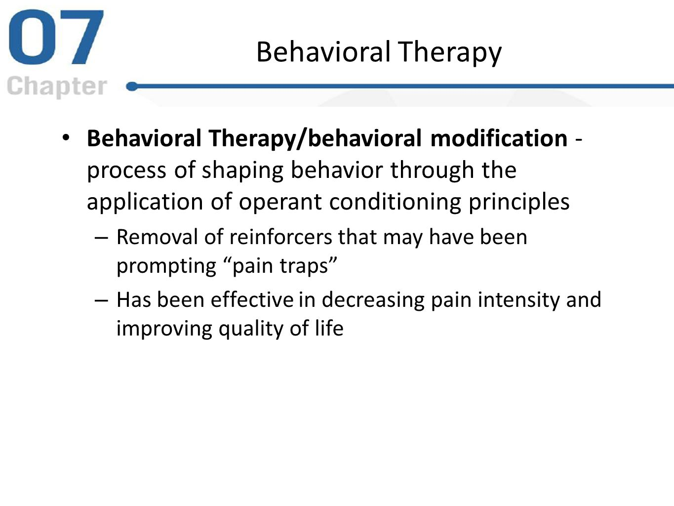 behavioral therapy Behavior therapy is a cogent introduction to the intellectual and therapeutic realms of behaviorism for students and practitioners.