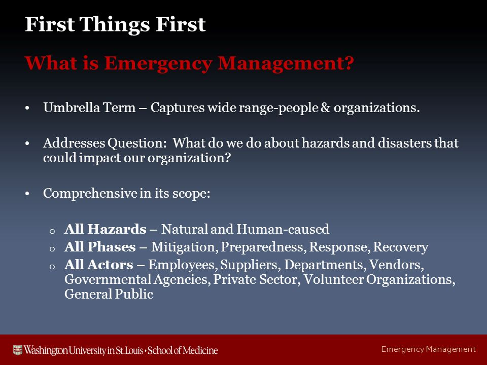 Crisis & Emergency Management Program - ppt download