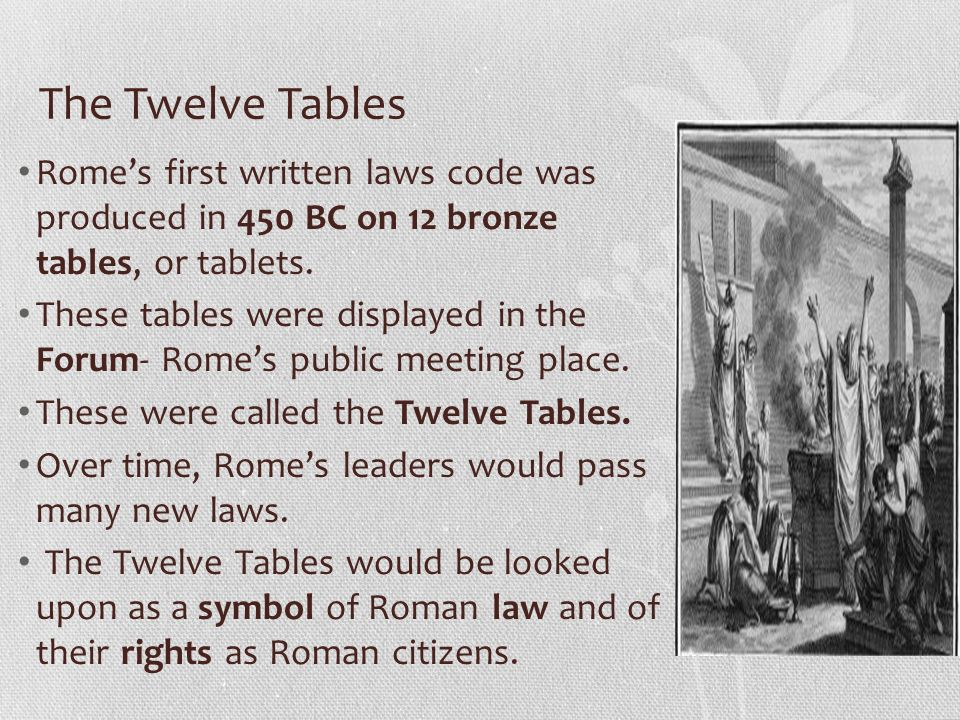 Bellringer explain the differences between patricians for 12 table laws