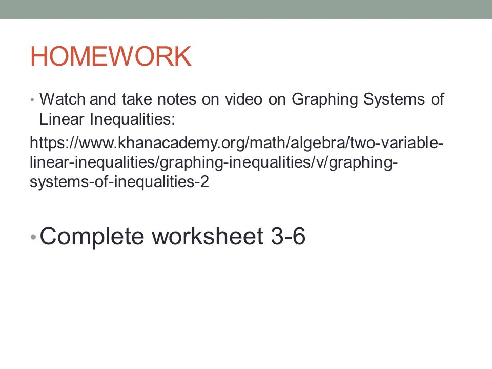 Unit 3 Systems of Equations ppt download – Algebra Inequalities Worksheet
