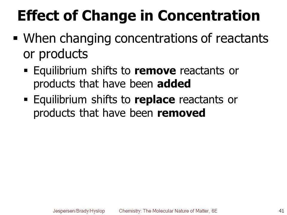 how to find concentration from change in pressure