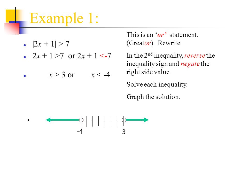 5 - Solving Inequalities Algebraically and Graphically