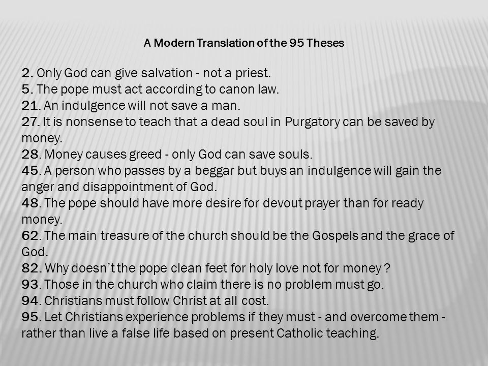 the 95 theses translation 95 theses modern translation keyword after analyzing the system lists the list of keywords related and the list of websites with related content,.