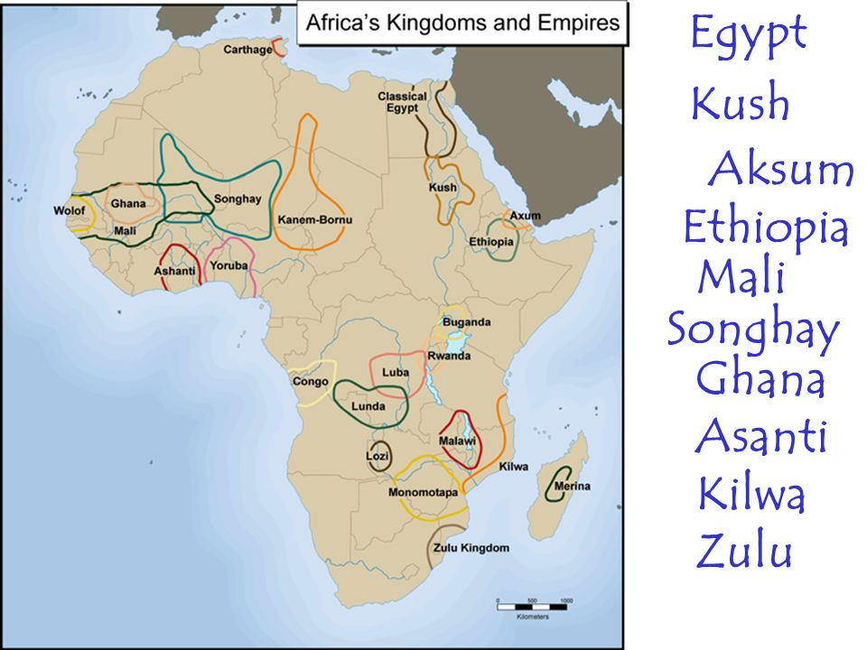 Chapter Africa Ppt Video Online Download - Map of egypt kush