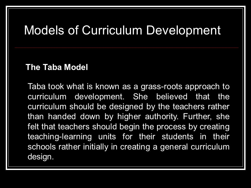 What Are the Two Main Curriculum Development Models?