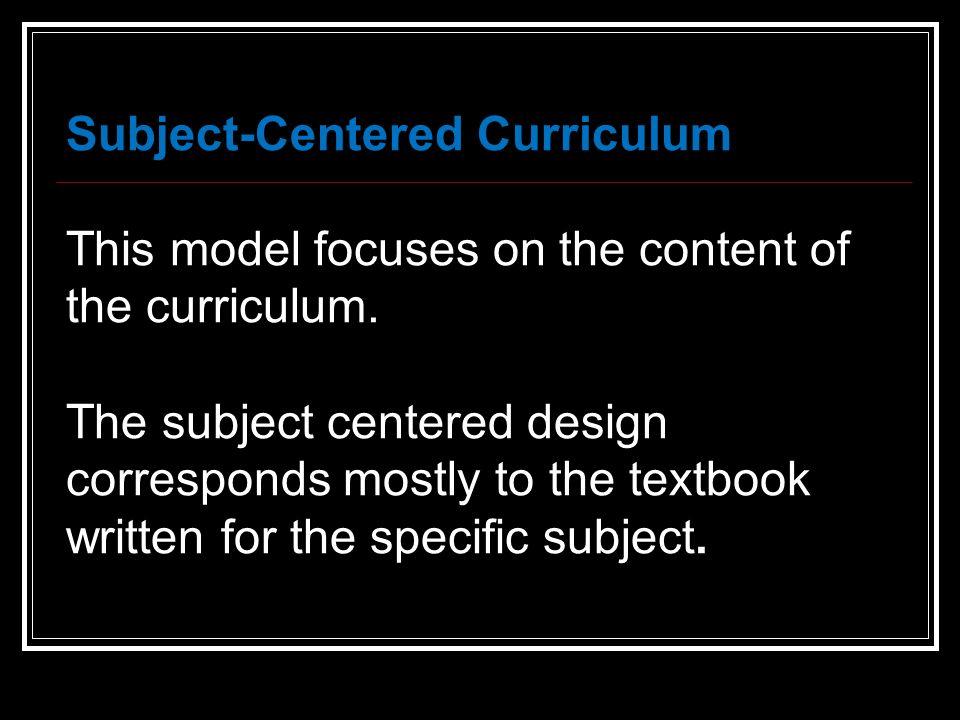 problem centered curriculum design pdf