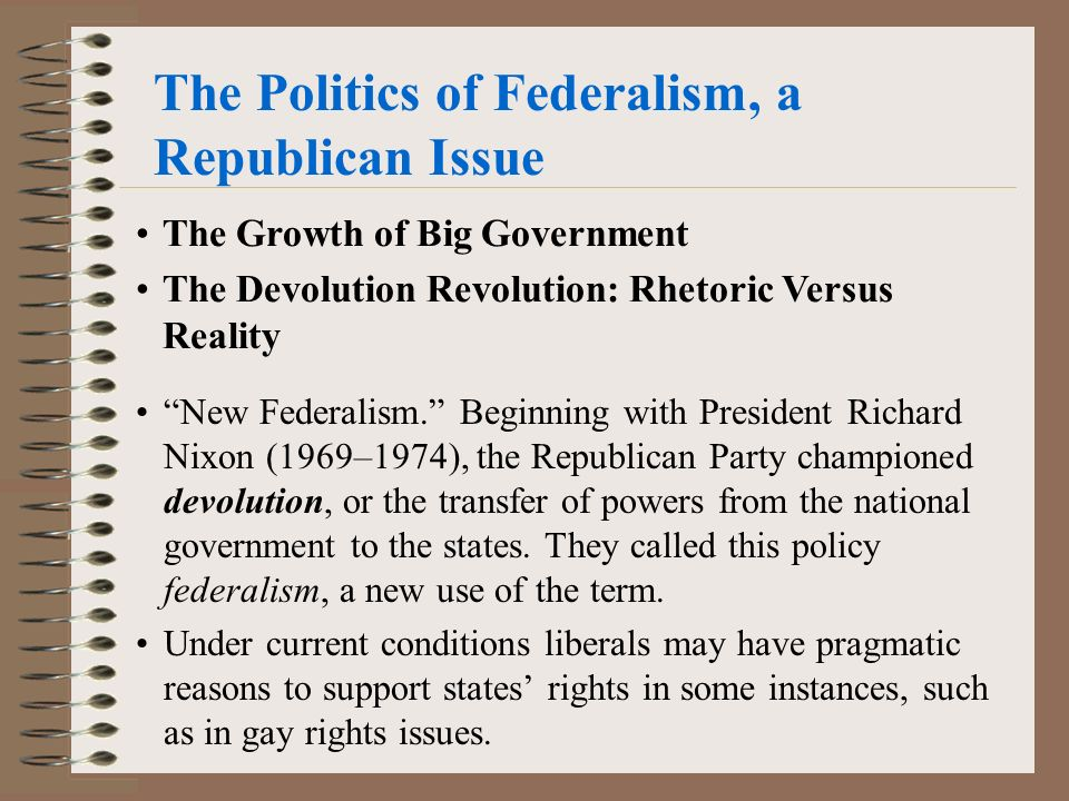 the spread and growth of federalism in america Federalism is written into the united states constitution, but it hasn't always  worked the same way it has evolved over the course of american.