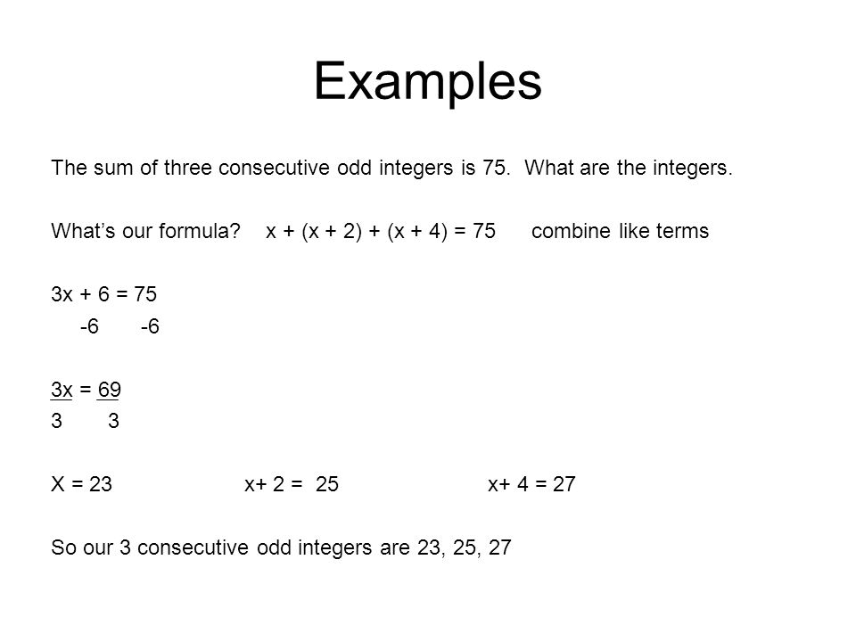 Consecutive even/odd Integers - ppt download