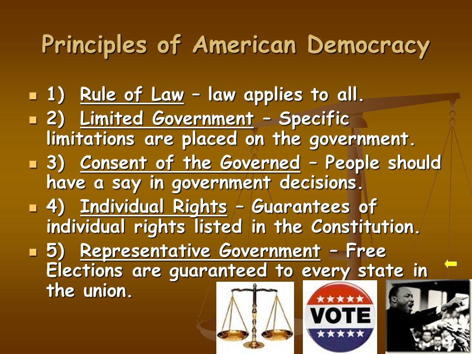 an analysis of the principles of equality in a democratic government Democracy in america summary and analysis of vol  the english government  encouraged the colonists and was actually glad that they left  in america the  principles of sovereignty and equality of the people are supreme.