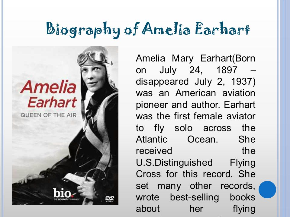 an introduction to the life and career by amelia mary earhart Amelia mary earhart essay examples 2 total results an introduction to the life and career by amelia mary earhart 985 words 2 pages.