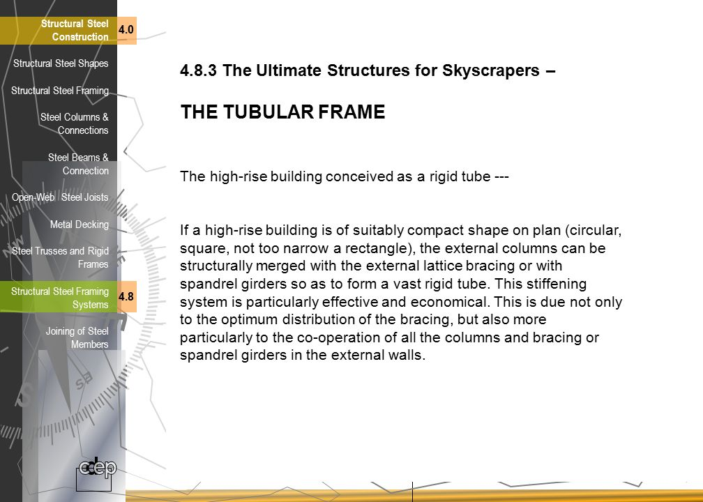 THE TUBULAR FRAME 4.8.3 The Ultimate Structures for Skyscrapers –