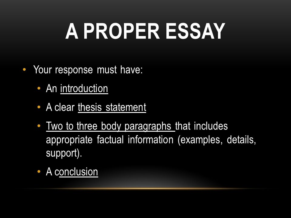 writing a proper introduction for an essay Start studying writing workshop to create the proper style for an argumentative essay read this introduction to an argumentative essay about government.