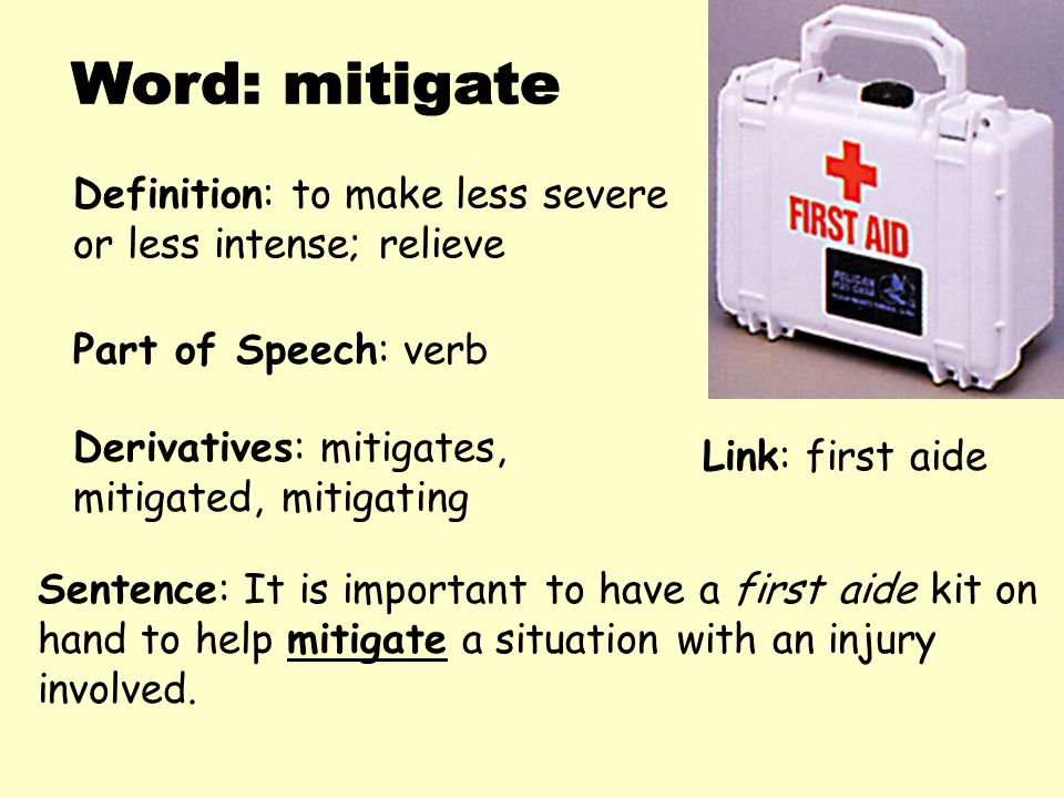 how to use mitigate in a sentence