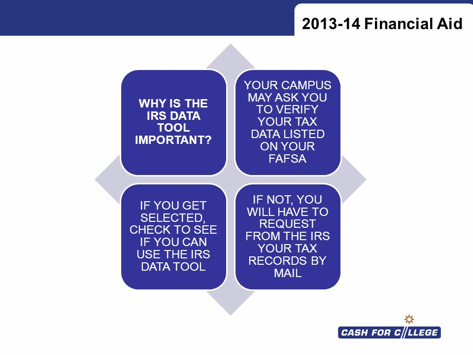 WHY IS THE IRS DATA TOOL IMPORTANT