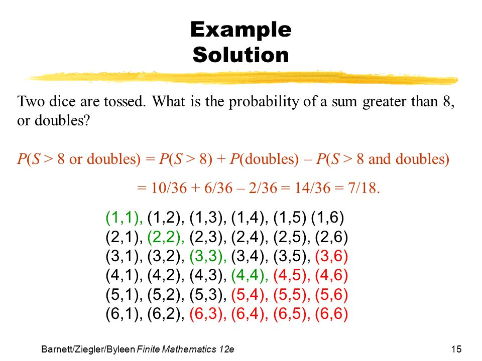 probability union and intersection pdf