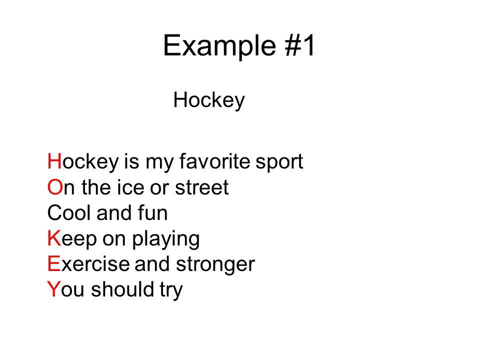 My favorite sport hockey essay