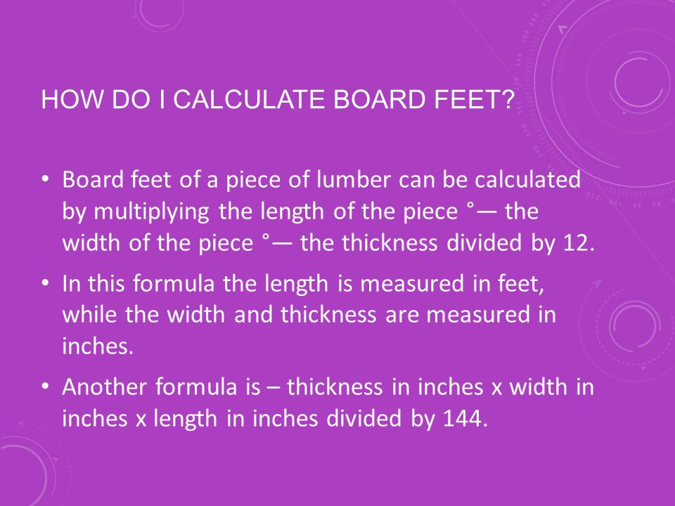 Measuring timber stands ppt download for How to calculate board feet in a tree