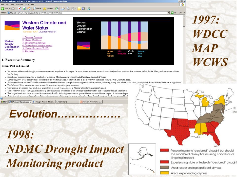 1997 Wdcc Map Wcws 1998 Ndmc Drought Impact Monitoring Product