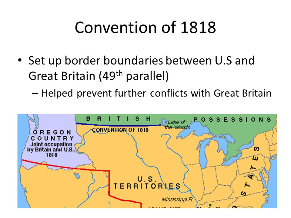 Chapter Nationalism And Economic Growth Ppt Download - Us 1818 border map