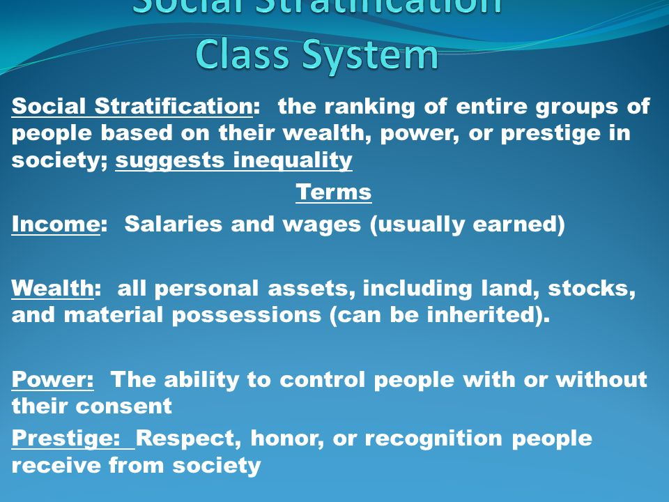 Social Stratification Class System Ppt Video Online Download