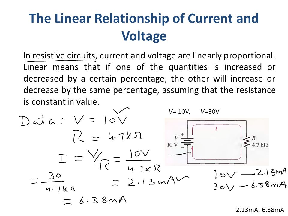 measuring voltage current and resistance relationship