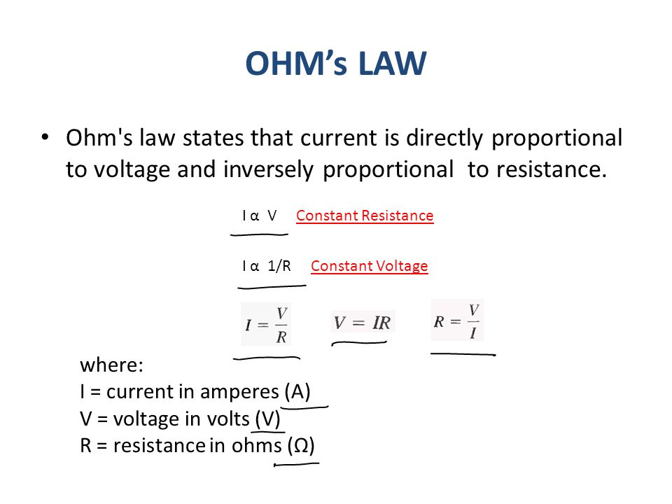 Voltage Current Resistance : Previous lecture review of v i and r ppt video