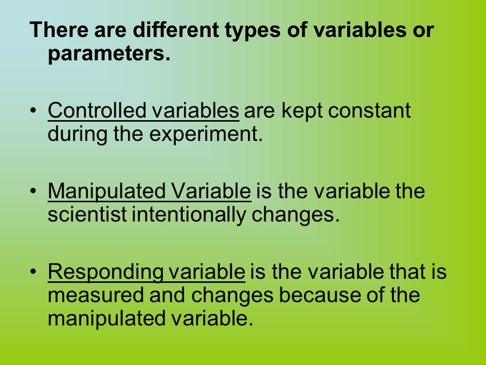 an analysis of the topic of the variables and the experiment If variable x is width of the head in millimeters, it's a measurement variable, and you'd compare head width in males and females with a two-sample t–test or a one-way analysis of variance (anova) if variable x is a genotype (such as aa, aa, or aa), it's a nominal variable, and you'd compare the genotype frequencies in males and females with a.